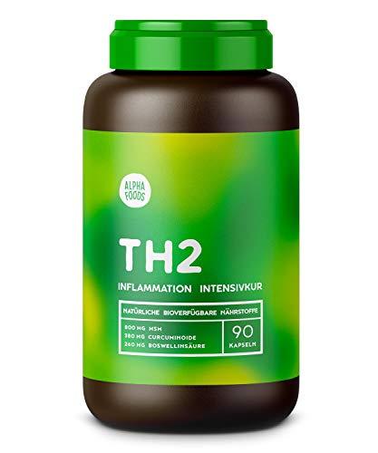 TH2 Immunsystem | Inflammation Intensivkur | Mit hochreinem MSM, Kurkuma, Weihrauch, Zimt und Ingwer | Hochdosierte, synergetische Wirkstoffe | 90 Kapseln