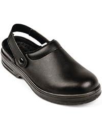 Lites Unisex para mujer para hombre seguridad – Zuecos calzado de trabajo zapatos Slip On Zapatillas