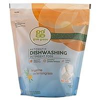 Grab Green Automatic Dishwashing Detergent, Tangerine with Lemongrass, 60 Loads
