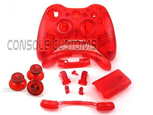 Xbox 360 Controller-Gehäuse/Reparaturset für Controller, durchsichtig,