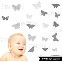 StarStick - 19 Mariposas Gris - Vinilos infantiles