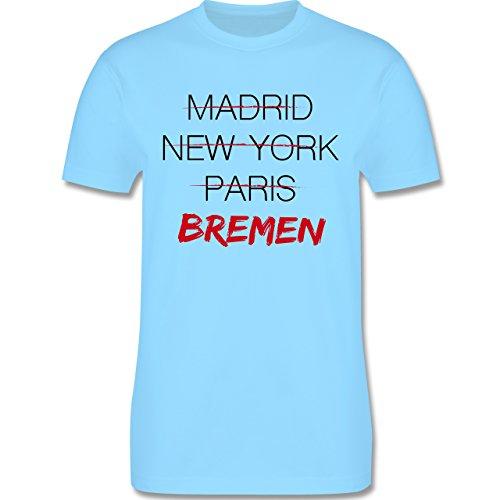 Städte - Weltstadt Bremen - Herren Premium T-Shirt Hellblau