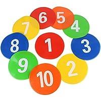 Dibiao Marcador de Disco de Fútbol ??10 Piezas Equipo de Entrenamiento de Fútbol Signos Discos Signos Marcadores Marcadores de Disco Discos Planos