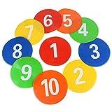 VGEBY 10 St¨¹ck Spot-Marker, Nummerierte Fu?Ball-Zeichen Disc-MarkerTraining Ausr¨¹Stung f¨¹r Kinder