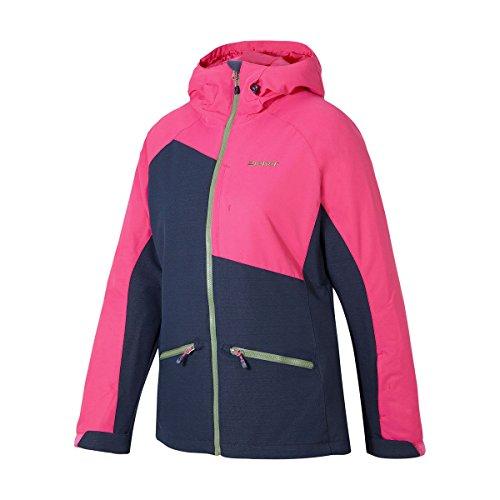 ZIENER TARA 17/18 Damen Skijacke Snowboardjacke 10.000mm AQUASHIELD+ 174121(811 BLUE NAVY MULTI - dunkelblau melange, pink,38)