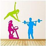 azutura Fitness Gewichtheben Übung Wandtattoo Set in 8 Größen erhältlich Digital