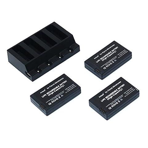 Anbee 3.7v 700mAh LiPo Batterie 3 pièces + Chargeur Parallèle