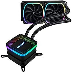 Enermax Aquafusion 240mm (ELC-AQF240-SQA) Sistema di Raffreddamento a Liquido All-in-One con RGB indirizzabili per CPU con Radiatore da 240mm