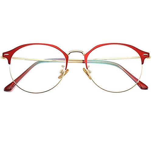 YUNCAT Neue Runde Metall Design nicht verschreibungspflichtige Gläser Frame mit klarem Brillenglas