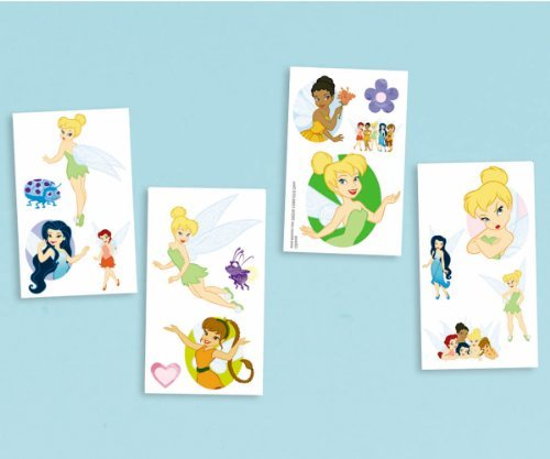 Cotillons 16/Pkg-Disney Fairies tatouage