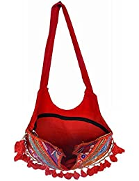 Gaurapakhi Rajasthani Collection And Ethnic Cotton Handmade Handbag With Multicolor For Women's