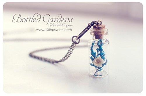 Getrocknete Blumen Flasche Halskette. Blume Halskette, Halskette Miniatur Terrarium, Glasflasche Anhänger, echte Blume Schmuck, Geschenk für Frauen -
