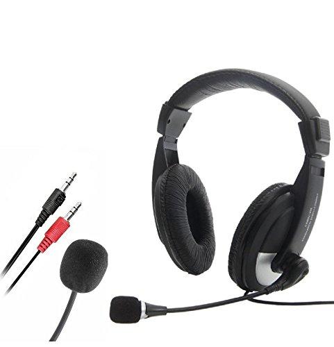 New Handsfree Stereo-Headset mit Mikrofon für PC Computer VoIP/Skype Schwarz -