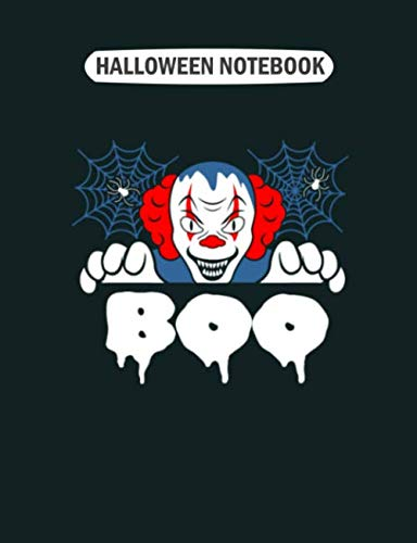 Clowns Outfits - Halloween Notebook: clown scary boo clown