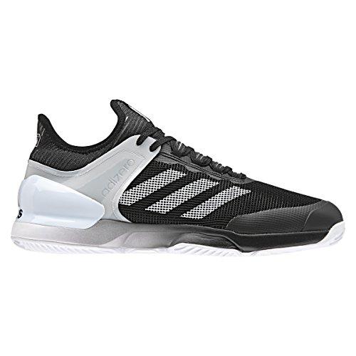 adidas Herren Adizero Ubersonic 2 Clay Tennisschuhe, Schwarz (Core Black/Footwear White), 43 1/3 EU