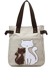 49f5f3354efc3 G-AVERIL Damen Vintage Canvas Handtasche Umhängetasche Shopper  Schultertasche Henkeltasche Hobo Tasche Beuteltasche