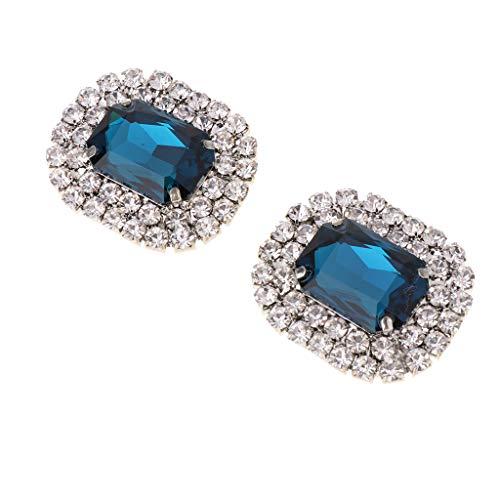 P Prettyia 1 Par Clip Zapatillas Nupciales Diamantes