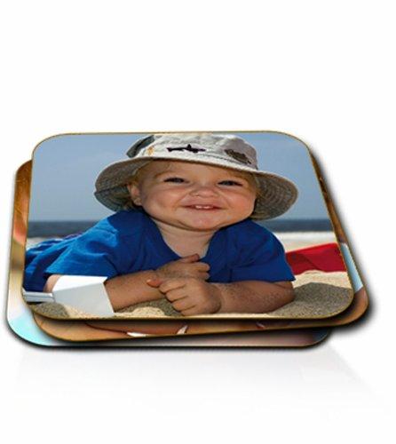 personalisiert Foto Untersetzer (rund oder quadratisch Single oder Set), holz, Set of Six, Square Coaster