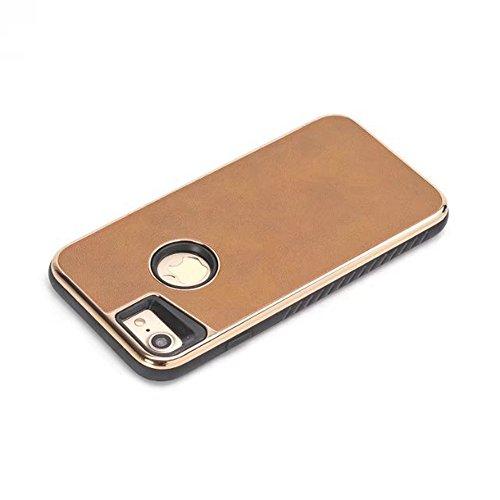 JIALUN-étui pour téléphone Pour IPhone 7 et 8, double couche PC + TPU Ultra peau en cuir Hybride Shell Cover Case [Antichoc] ( Color : Blue ) Yellow