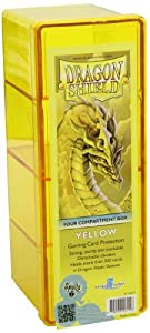 Dragon Shield Four-Compartment - Caja de Almacenamiento, Color Amarillo