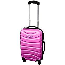 Maletas Equipaje de mano rigidas cascara dura 4 ruedas equipaje de cabina permetido ESPECIAL COMPAÑIAS LOW COST RYANAIR EASYJET (FUXIA)