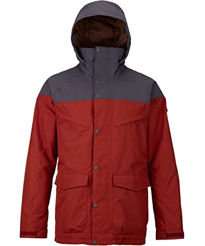 Burton Herren Breach Jacket Snowboardjacke, Fired Brick/Faded, XS | 09009520686115