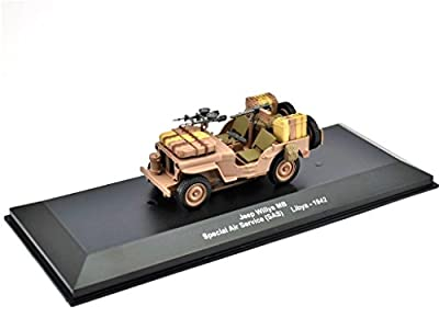 Jeep Willys MB-SAS Maßstab 1:43 Fertigmodell aus Metall in Displayvitrine von IXO / ALTAYA / ATLAS