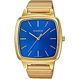 Reloj cuarzo Casio Para Mujer Con  Azul Analogico Y Oro acero inoxidable LTP-E117G-2AEF