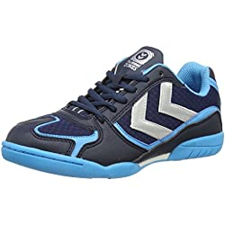 Hummel HUMMEL ROOT - Zapatillas Deportivas para interior, Unisex Adulto, color Azul (Dress Blue 7459), talla 44 EU