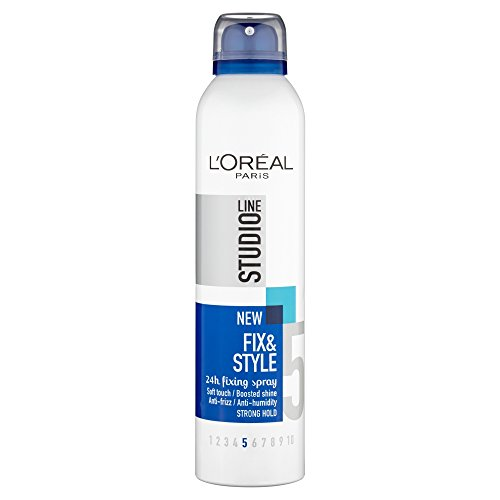 LOREAL PARIS STUDIO LINE 5 FIX & STYLE 24H Anti-Frizz FIXING SPRAY 250ML  available at amazon for Rs.576