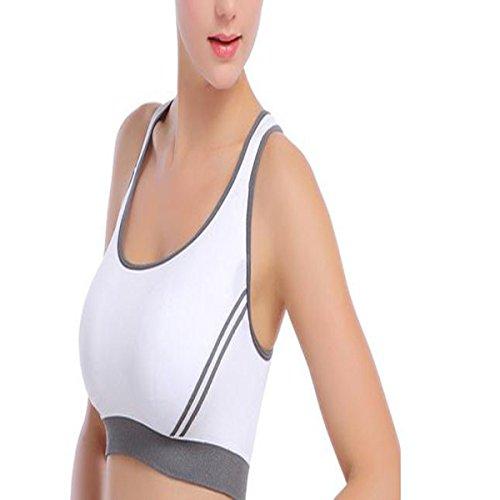 Hsnnyqt Soutien-gorge De Sport Mme Soutien-gorge Yoga Confortable Escalade Séchage Rapide De Remise En Forme En Cours D'exécution Soutien-gorge Veste Lady Robuste white