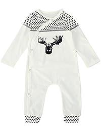 SMARTLADY - Mono de Bebé Niña Niño Pijama Rompers de Manga Larga