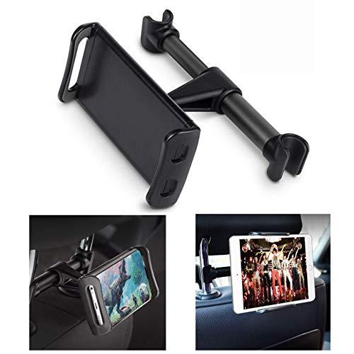 Lidasen Supporto Tablet Poggiatesta Auto, Supporto per Sedile d'auto Compatible with iPhone XS Max/XR/iPad Air/Mini 2 3/Samsung Tab/Huawei di 4,7-10,5 Pollici Dispositivo Intelligente
