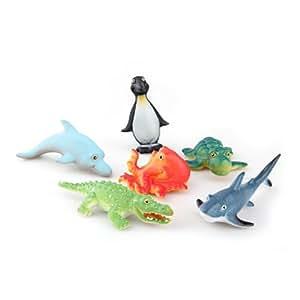 facilla ensemble figurine animaux marins en plastique. Black Bedroom Furniture Sets. Home Design Ideas