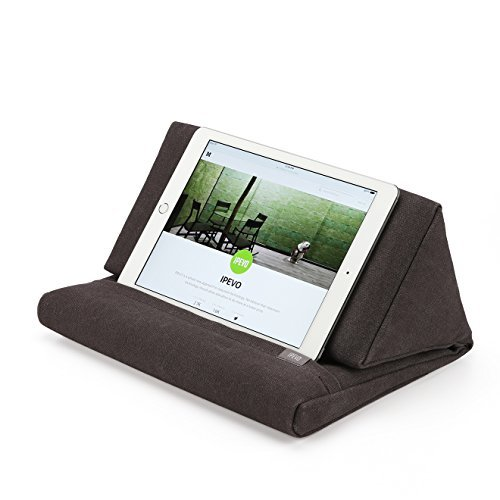Almohada de Apoyo IPEVO PadPillow para todas las generaciones de iPad Air, iPad mini, iPad 4, iPad 3, iPad 2, iPad 1, Nexus y Galaxy - color gris carbón vegetal
