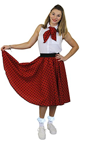 ILOVEFANCYDRESS I Love Fancy Dress ilfd4518os Damen Kostüme mit Lang Polka Dot Rock (Standard)