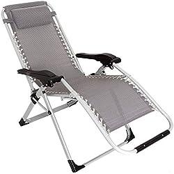 XONE Poltrona Sdraio reclinabile Pieghevole Paradise con Tubolare Rinforzato (25mm) - Portata Massima 120 kg - Textilene 2x2