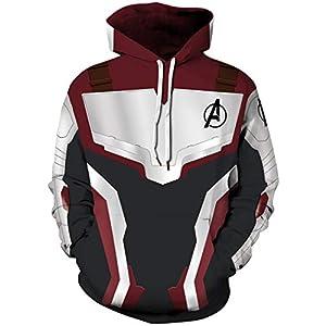 FLYCHEN Herren Kapuzenpullover MCU Avengers Endgame Hoodie Heldenuniform Super Hero Quantenkrieg Hoodie