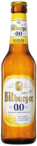 Bitburger - Radler 0,0% Vol. alkoholfreies Bier - 0,33l