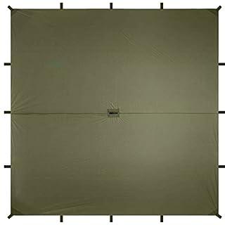 Aqua Quest Guide SIL Tarp - 100% Wasserdicht - 3 x 3 m Quadratisch/Square - Olivgrün