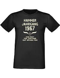 Sprüche Fun T-Shirt Jubiläums-Geschenk zum 50. Geburtstag Hammer Jahrgang 1967 Farbe: schwarz blau rot grün braun auch in Übergrößen 3XL, 4XL, 5XL