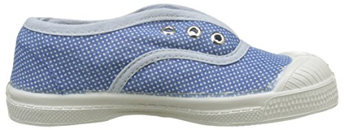 Bensimon Tennis Elly Pois Denim, Baskets Basses Fille Bleu (Bleu)