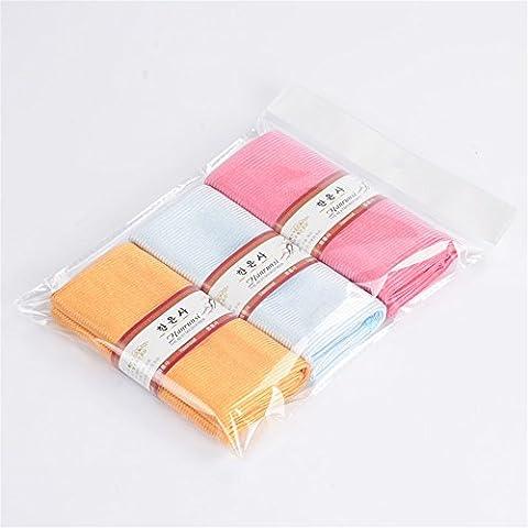 Barra de tela toalla absorbente- Furniture-Cleaning pelusa pelusa, limpie el vidrio toallas limpias trapo de cocina Cocina Process-Color tres