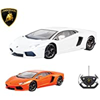 Price comparsion for Lamborghini Remote Control Car with Working Lights - Lamborghini Aventador Fast Electric Radio Controlled RC Car – PL9373 Official Licensed 1:14 Lamborghini Model - RTR, EP (Colour May Vary)