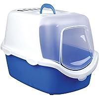 Trixie Vico Easy clean bandeja para arena de gato, con cúpula, 40x 40x 56cm), color azul/blanco