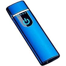 THE NAMCHE BAZAR Encendedor USB eléctrico Recargable, Mechero sin Llama ecológico sin Gas Caja de