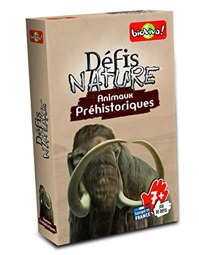 Défis Nature-282673-Cartas de Animales prehistóricos-Color marrón (Idioma español no garantizado)