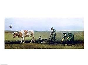 Vincent Van Gogh – Labourer et pommes de terre de plantation de paysans Impression d'art Print (60,96 x 45,72 cm)