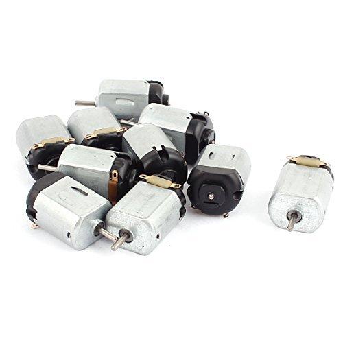 DealMux 10 Stück 3V 17000RPM High Torque 2mm Dia Welle Reducer Micro DC Getriebe Getriebe Elektromotor (Reducer 2)
