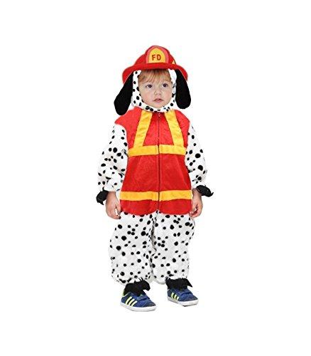 Costume bambino cane pompiere per carnevale 2/3 anni tg.2 74 cm